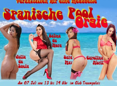 Julia de Lucia, Salma de Nora, Sara May und Carolina Abril laden zur Fickparty
